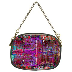 Technology Circuit Board Layout Pattern Chain Purses (two Sides)  by BangZart