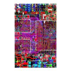 Technology Circuit Board Layout Pattern Shower Curtain 48  X 72  (small)  by BangZart