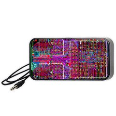 Technology Circuit Board Layout Pattern Portable Speaker (black) by BangZart