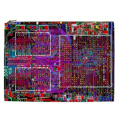Technology Circuit Board Layout Pattern Cosmetic Bag (xxl)  by BangZart
