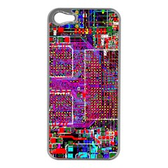 Technology Circuit Board Layout Pattern Apple Iphone 5 Case (silver) by BangZart