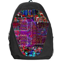 Technology Circuit Board Layout Pattern Backpack Bag by BangZart
