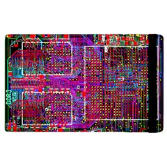 Technology Circuit Board Layout Pattern Apple Ipad 2 Flip Case by BangZart
