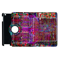 Technology Circuit Board Layout Pattern Apple Ipad 3/4 Flip 360 Case by BangZart