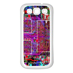 Technology Circuit Board Layout Pattern Samsung Galaxy S3 Back Case (white)