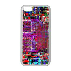 Technology Circuit Board Layout Pattern Apple Iphone 5c Seamless Case (white)