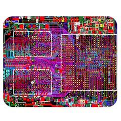 Technology Circuit Board Layout Pattern Double Sided Flano Blanket (medium)  by BangZart