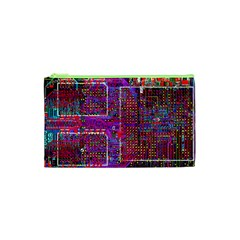 Technology Circuit Board Layout Pattern Cosmetic Bag (xs) by BangZart