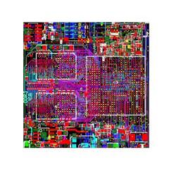 Technology Circuit Board Layout Pattern Small Satin Scarf (square) by BangZart