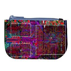 Technology Circuit Board Layout Pattern Large Coin Purse by BangZart