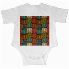 Stract Decorative Ethnic Seamless Pattern Aztec Ornament Tribal Art Lace Folk Geometric Background C Infant Creepers