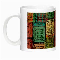 Stract Decorative Ethnic Seamless Pattern Aztec Ornament Tribal Art Lace Folk Geometric Background C Night Luminous Mugs by BangZart