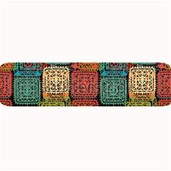 Stract Decorative Ethnic Seamless Pattern Aztec Ornament Tribal Art Lace Folk Geometric Background C Large Bar Mats by BangZart