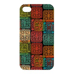 Stract Decorative Ethnic Seamless Pattern Aztec Ornament Tribal Art Lace Folk Geometric Background C Apple Iphone 4/4s Premium Hardshell Case