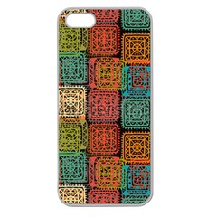 Stract Decorative Ethnic Seamless Pattern Aztec Ornament Tribal Art Lace Folk Geometric Background C Apple Seamless Iphone 5 Case (clear) by BangZart