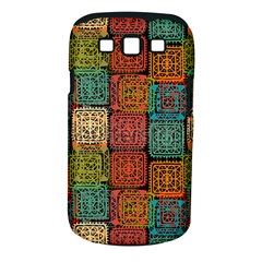 Stract Decorative Ethnic Seamless Pattern Aztec Ornament Tribal Art Lace Folk Geometric Background C Samsung Galaxy S Iii Classic Hardshell Case (pc+silicone)