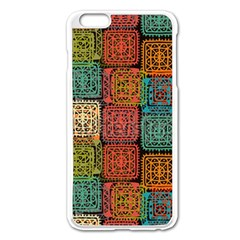 Stract Decorative Ethnic Seamless Pattern Aztec Ornament Tribal Art Lace Folk Geometric Background C Apple Iphone 6 Plus/6s Plus Enamel White Case by BangZart