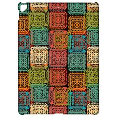 Stract Decorative Ethnic Seamless Pattern Aztec Ornament Tribal Art Lace Folk Geometric Background C Apple Ipad Pro 12 9   Hardshell Case by BangZart