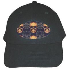 Skull Pattern Black Cap by BangZart