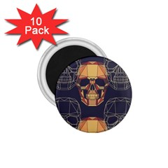 Skull Pattern 1 75  Magnets (10 Pack)  by BangZart