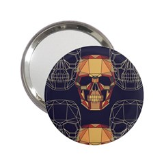 Skull Pattern 2 25  Handbag Mirrors by BangZart