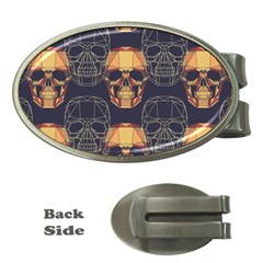 Skull Pattern Money Clips (oval)  by BangZart