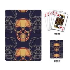 Skull Pattern Playing Card by BangZart