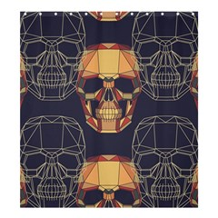 Skull Pattern Shower Curtain 66  X 72  (large)  by BangZart