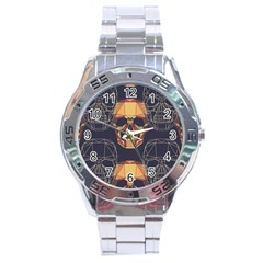 Skull Pattern Stainless Steel Analogue Watch by BangZart