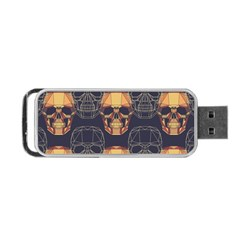Skull Pattern Portable Usb Flash (two Sides) by BangZart