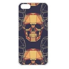 Skull Pattern Apple Iphone 5 Seamless Case (white)