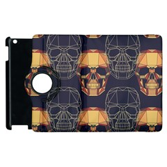 Skull Pattern Apple Ipad 3/4 Flip 360 Case