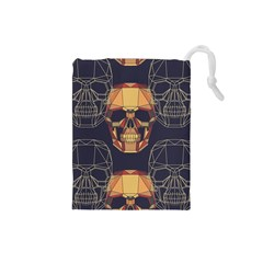 Skull Pattern Drawstring Pouches (small)  by BangZart