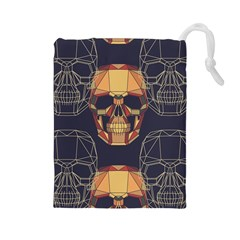 Skull Pattern Drawstring Pouches (large)