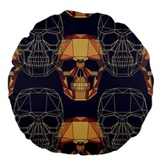 Skull Pattern Large 18  Premium Flano Round Cushions by BangZart