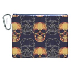 Skull Pattern Canvas Cosmetic Bag (xxl) by BangZart