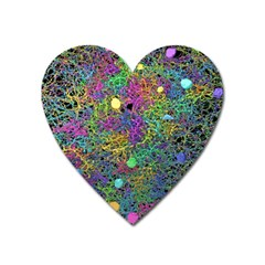 Starbursts Biploar Spring Colors Nature Heart Magnet by BangZart
