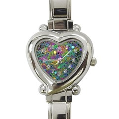 Starbursts Biploar Spring Colors Nature Heart Italian Charm Watch by BangZart