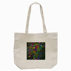 Starbursts Biploar Spring Colors Nature Tote Bag (cream)