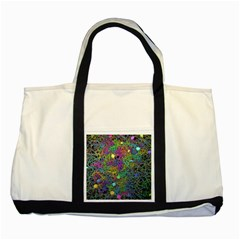 Starbursts Biploar Spring Colors Nature Two Tone Tote Bag by BangZart