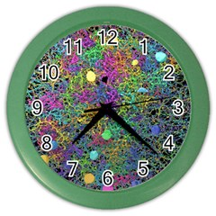 Starbursts Biploar Spring Colors Nature Color Wall Clocks by BangZart