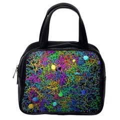 Starbursts Biploar Spring Colors Nature Classic Handbags (one Side)