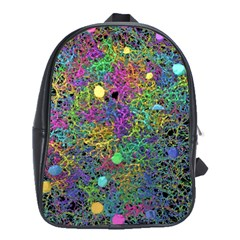 Starbursts Biploar Spring Colors Nature School Bags(large)  by BangZart