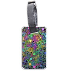 Starbursts Biploar Spring Colors Nature Luggage Tags (one Side)  by BangZart