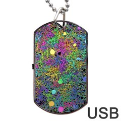 Starbursts Biploar Spring Colors Nature Dog Tag Usb Flash (two Sides)