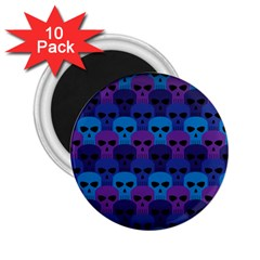 Skull Pattern Wallpaper 2 25  Magnets (10 Pack)  by BangZart