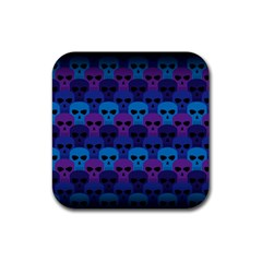 Skull Pattern Wallpaper Rubber Coaster (square)