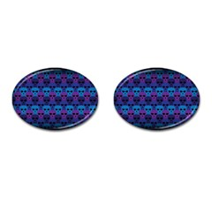 Skull Pattern Wallpaper Cufflinks (oval) by BangZart