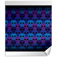 Skull Pattern Wallpaper Canvas 20  X 24   by BangZart