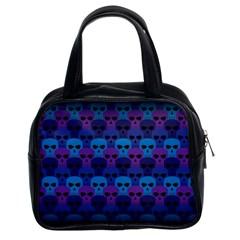 Skull Pattern Wallpaper Classic Handbags (2 Sides) by BangZart
